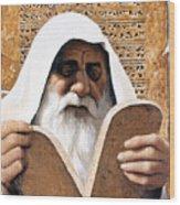 Moses - Lgmss Wood Print