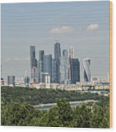Moskow Skyline Wood Print