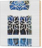 Mosque Foyer Window 1 White Wood Print