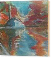 Mosquee Hassan II - Casablanca Wood Print