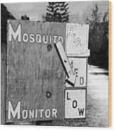 Mosquito Monitor Wood Print