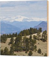 Mosquito Range Mountains From Bald Mountain Colorado Wood Print