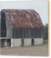 Moss Bluff Barn Wood Print