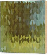 Moss Green Abstract Low Polygon Background Wood Print
