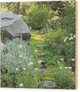 Mossy Path In Tahoe Wood Print