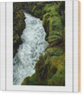 Mossy Rocks And Stream Poster Wood Print