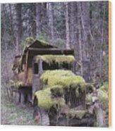 Mossy Truck Wood Print