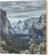 Most Beautiful Yosemite National Park Tunnel View Wood Print