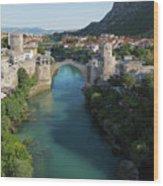 Mostar, Bosnia And Herzegovina.  Stari Most.  The Old Bridge. Wood Print