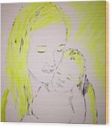 Mother And Baby Wood Print
