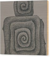 Mother And Child  2008 Wood Print