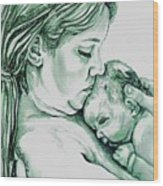 Mother And Child II Wood Print