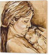 Mother And Child IIi Wood Print