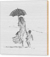 Mother And Child  Sri Lanka Wood Print