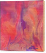 Mother And Daughter Abstract Wood Print