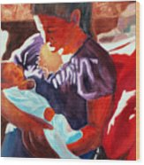 Mother And Newborn Child Wood Print by Kathy Braud