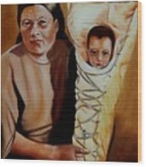 Mother And Son Wood Print by Joni McPherson