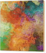 Mother Earth - Abstract Art Wood Print