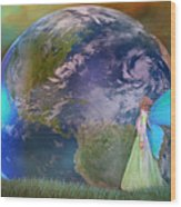 Mother Earth Series Plate3 Wood Print