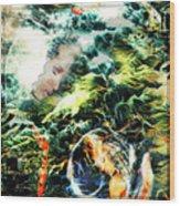Mother Earth Sister Moon Wood Print