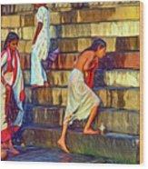 Mother Ganges - Paint Wood Print