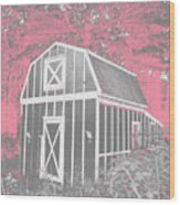 Mother Goose's Barn Wood Print
