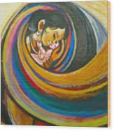 Mother Love,mothers Lap Wood Print