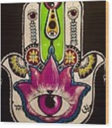 Mother Nature Hamsa Wood Print