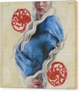 Mother Of Dragons Wood Print by Denise H Cooperman