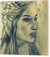 Mother Of Dragons Wood Print