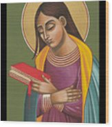 Mother Of God After Fra Angelico 168 Wood Print