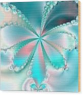 Mother Of Pearl Butterfly Wood Print