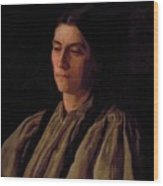 Mother Portrait Of Annie Williams Gandy Wood Print