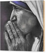 Mother Teresa Of Calcutta Wood Print