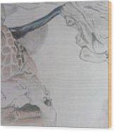Mother Teresa Pencil Sketch Wood Print