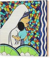 Mother Teressa Wood Print