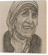 Mother Theresa Kindness Wood Print