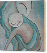 Motherhood Painting My Baby Original Oil By Gioia Albano Wood Print