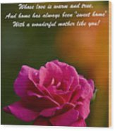 Mother's Day Card 2 Wood Print