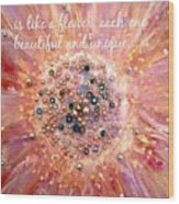 Mothers Day Greeting Card Wood Print