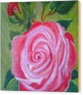 Mothers Day Rose Wood Print