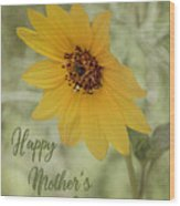 Mother's Day Sunflower Wood Print
