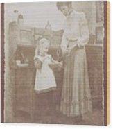 Mothers Helper Wood Print