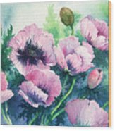 Mother's Prize Poppies  Wood Print