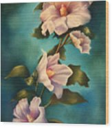 Mothers Rose Of Sharon Wood Print