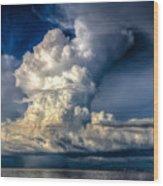 Mothership Thunderstorm  Wood Print