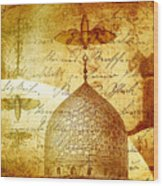 Moths And Mosques Wood Print