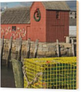 Motif 1 At Christmas, Rockport, Ma Wood Print
