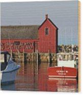 Motif No. 1 Reflections Rockport Massachusetts Wood Print