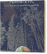 Motivational Travel Poster - Peripatetic 2 Wood Print